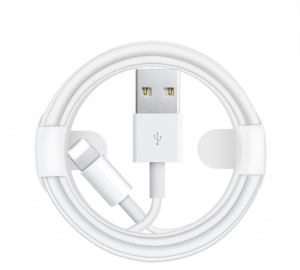 Kabel LIGHTNING 1m biały iPhone iPad iPod AirPods