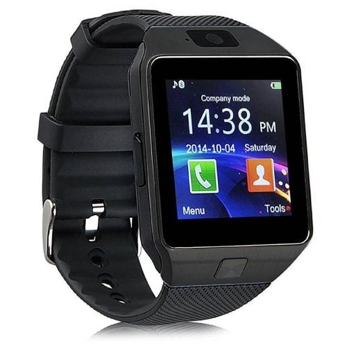 SMARTWATCH Zegarek Elektroniczny MĘSKI SMARTBAND BLUETOOTH GSM DZ-09 czarny