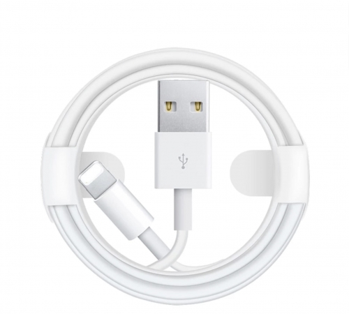 Kabel LIGHTNING 1m biały iPhone iPad iPod AirPods