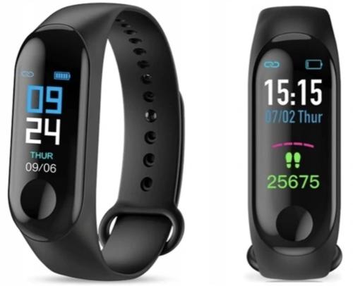 Smartwatch SmartBand Opaska sportowa Zegarek M3 z pomiarem pulsu